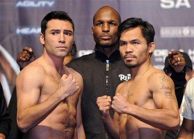 De La Hoya Pacquiau Boxing