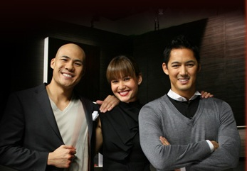 Rovilson Fernandez, Eunice Olsen and Marc Nelson (photo sourced from AXN website.)