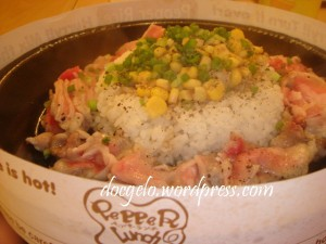 double beef pepper rice :  more than meets the eye!