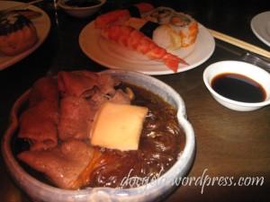 I started with jap soup : SUKIYAKI = yummy!