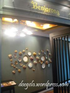 the entrance to Benjarong