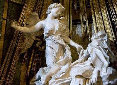 Giovanni Lorenzo Bernini's scultpture the Ecstasy of St. Theresa.  REUTERS/Chris Helgren (ITALY ENTERTAINMENT SOCIETY)