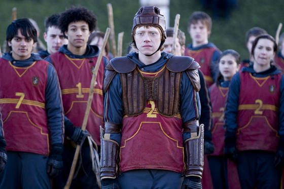 "(Center) RUPERT GRINT as Ron Weasley in Warner Bros. Pictures' fantasy ""Harry Potter and the Half-Blood Prince."