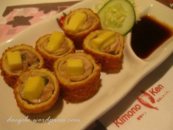chicken cheese roll kimono ken