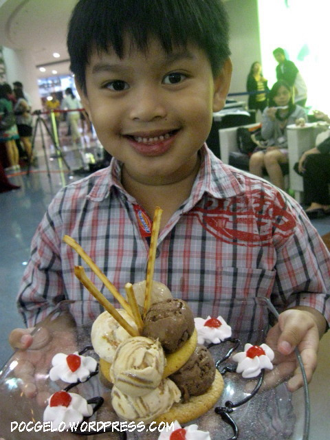 my son gabby with Chocolate Temptation