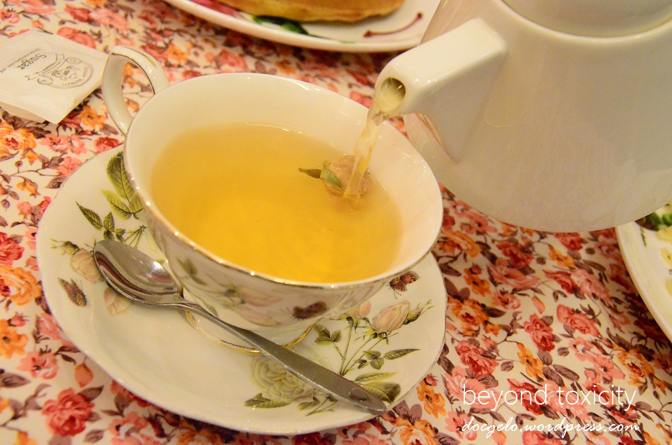 At Winter Warmers Coffee and Tea House :  Green Tea Moonlight Rose